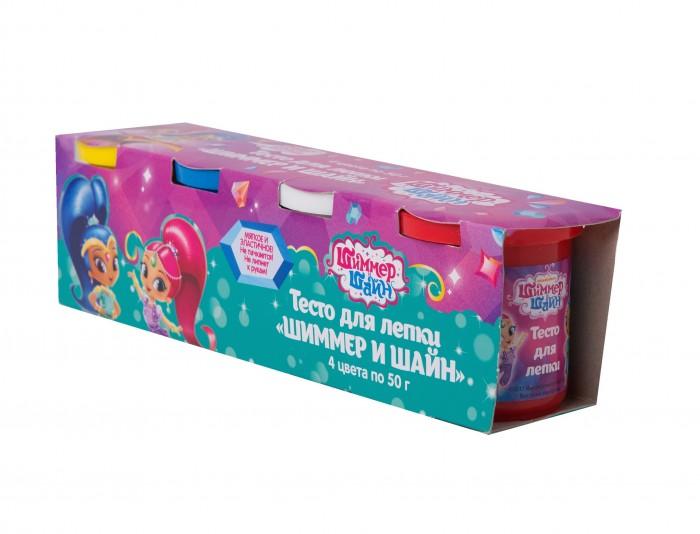 Всё для лепки Shimmer&Shine Тесто для лепки 4 цвета по 50 г всё для лепки lori тесто для лепки пластишка яркие цвета 5 цветов по 80 г