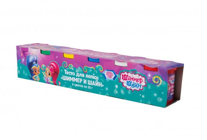 Всё для лепки Shimmer&Shine Тесто для лепки 6 цветов по 50 г всё для лепки lori тесто для лепки пластишка 7 цветов по 30 г