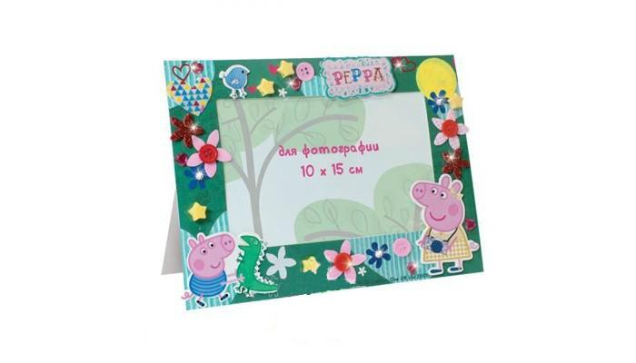 Наборы для творчества Свинка Пеппа (Peppa Pig) Фоторамка-аппликация Пеппа на каникулах аппликация из фетра птичка с2564 03