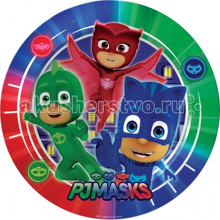 Товары для праздника Герои в масках (PJ Masks) Набор тарелок 6 шт. 18 см бумажные герои