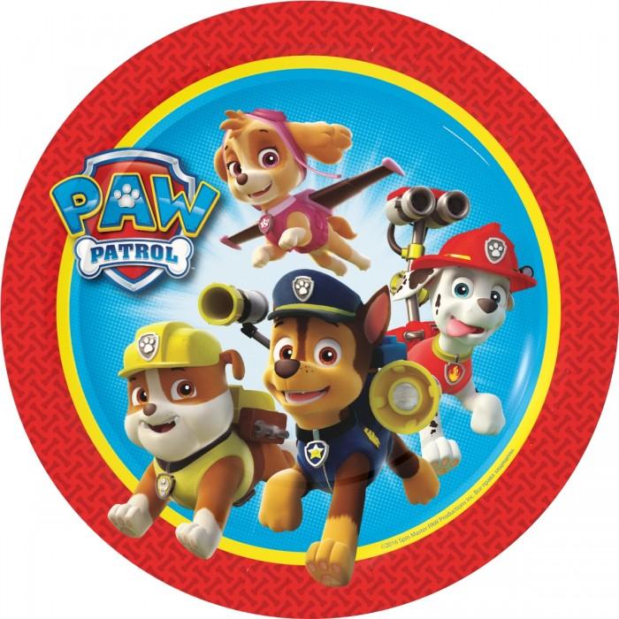 Товары для праздника Щенячий патруль (Paw Patrol) Набор тарелок 6 шт. 18 см paw patrol набор восковых карандашей 12 цветов 2373435