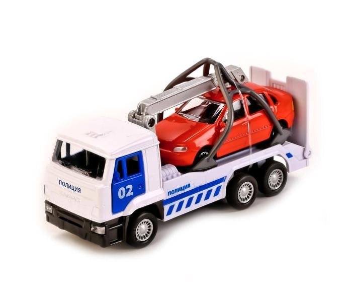 Машины Технопарк Камаз Эвакуатор камаз транспортер с доп машинкой