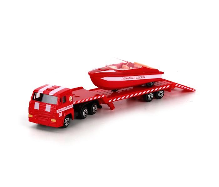 Машины Технопарк Набор Камаз транспортер пожарный с лодкой камаз транспортер с доп машинкой