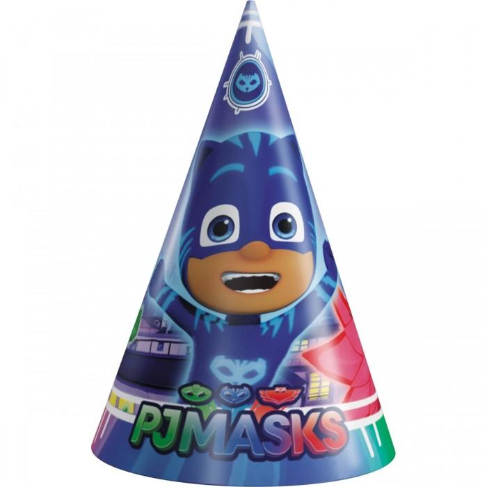 Товары для праздника Герои в масках (PJ Masks) Набор колпачков 6 шт. бумажные герои