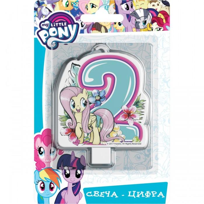 Товары для праздника Май Литл Пони (My Little Pony) Свеча-цифра № 2 Мой маленький пони шереметева г мой ребенок растет счастливым