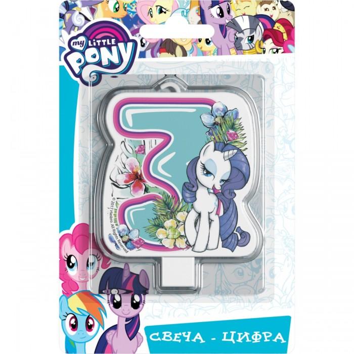 Товары для праздника Май Литл Пони (My Little Pony) Свеча-цифра № 3 Мой маленький пони шереметева г мой ребенок растет счастливым