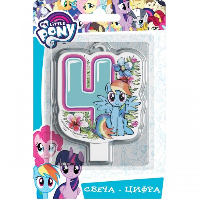 Товары для праздника Май Литл Пони (My Little Pony) Свеча-цифра № 4 Мой маленький пони шереметева г мой ребенок растет счастливым