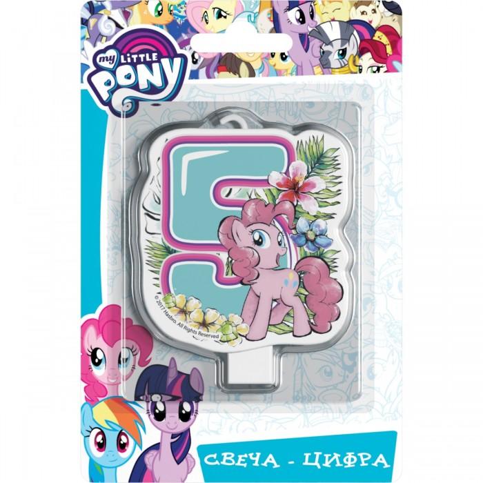 Фото - Товары для праздника Май Литл Пони (My Little Pony) Свеча-цифра № 5 Мой маленький пони набор наклеек panini my little pony movie мой маленький пони в кино 1 пакет с 5 наклейками