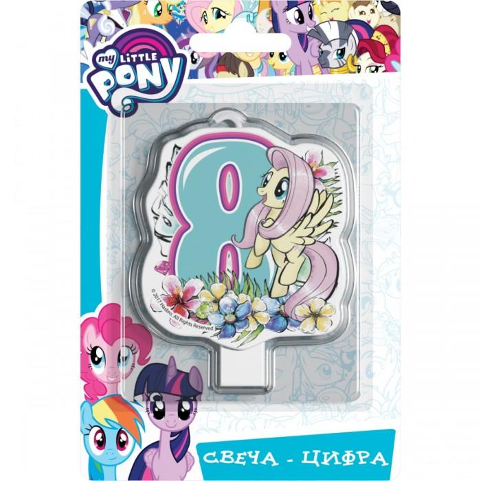 Фото - Товары для праздника Май Литл Пони (My Little Pony) Свеча-цифра № 8 Мой маленький пони набор наклеек panini my little pony movie мой маленький пони в кино 1 пакет с 5 наклейками