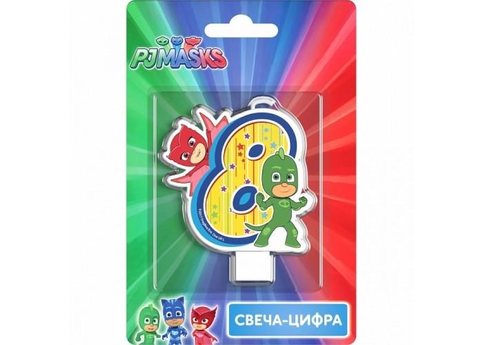 Товары для праздника Герои в масках (PJ Masks) Свеча-цифра №8 фигурки игрушки pj masks фигурка кэтбой тм герои в масках 8 см