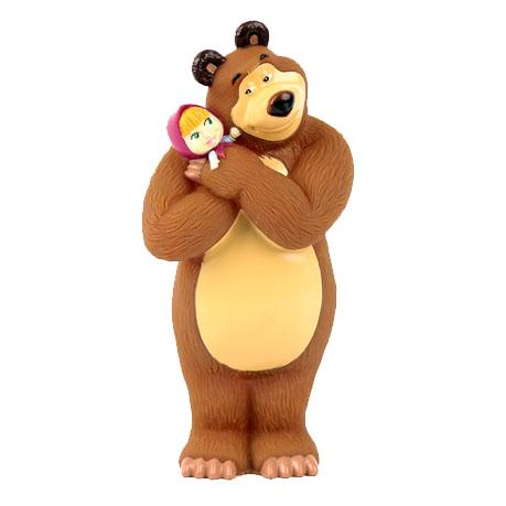 Маша и Медведь Мишка с Машей на руках