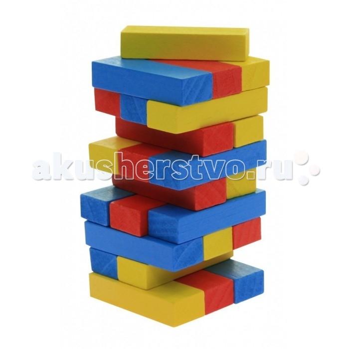 Деревянные игрушки Goki Игра Разоборная башня Дженга малая цветная