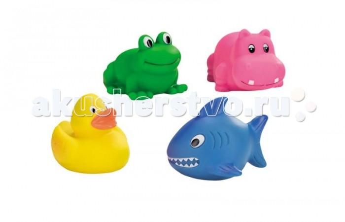 Игрушки для ванны GK Игрушки для купания (утенок, лягушка, бегемот, акула) игрушки для ванны tolo toys набор ведерок квадратные