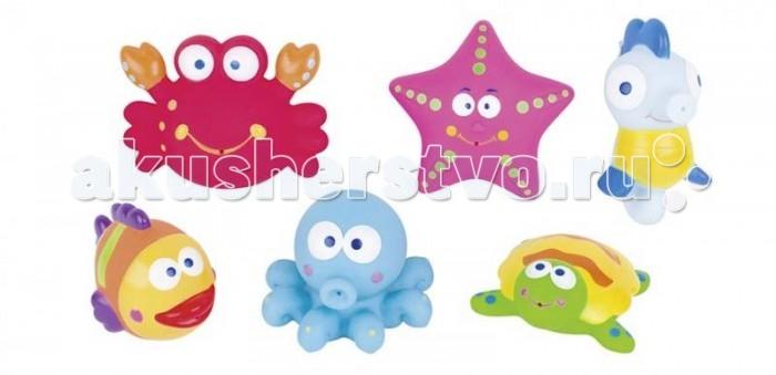 Купание малыша , Игрушки для ванны GK Игрушки для купания животные океана 8-8,5 см (6 цветов) арт: 411759 -  Игрушки для ванны
