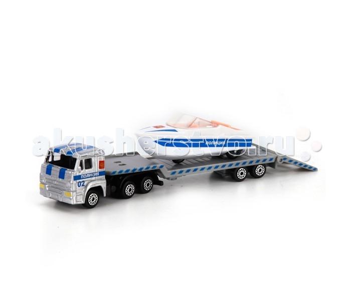 Машины Технопарк Машина Камаз транспортер полиция с лодкой транспортер т2 т3 г хмельницкий купить