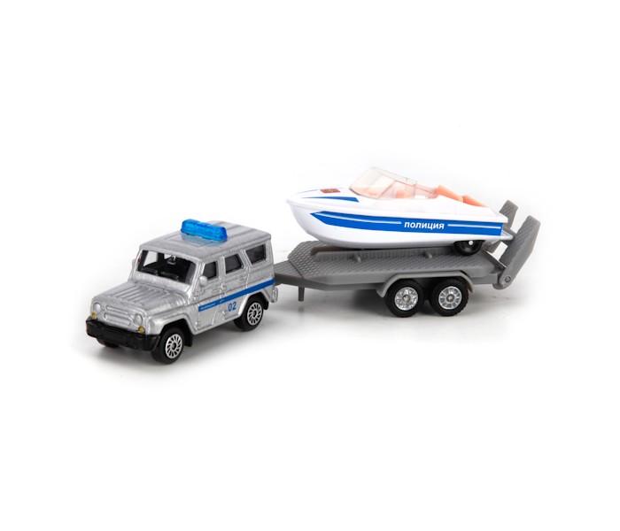 Машины Технопарк Набор Полиция УАЗ с лодкой на прицепе тарелка опорная bosch 1608601033