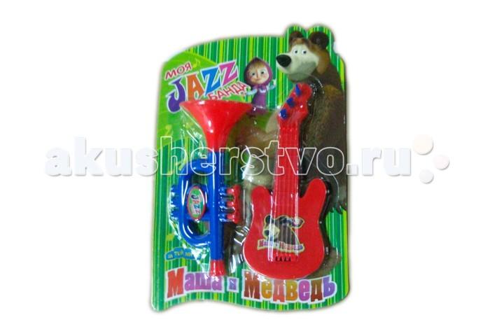 Музыкальные игрушки Маша и Медведь Набор музыкальных инструментов GT5847 набор музыкальных инструментов играем вместе маша и медведь
