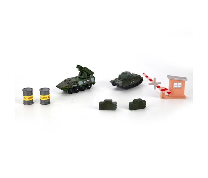 Игровые наборы Технопарк Набор Военная база игровые наборы tomy игровой набор приключения трактора джонни и лошади на ферме