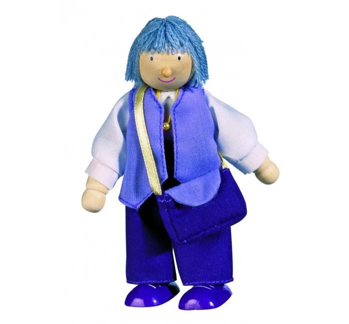 Куклы и одежда для кукол Goki Кукла деревянная Бабушка goki мягкая кукла мишка с комплектом одежды goki