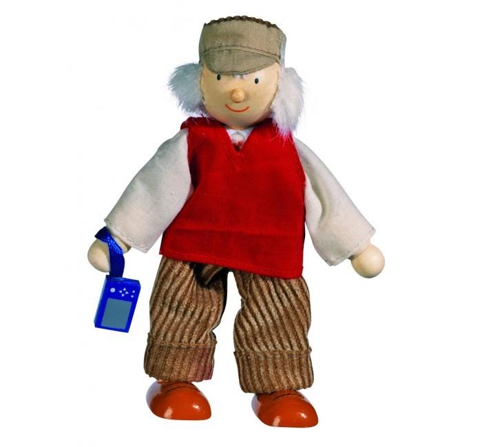 Куклы и одежда для кукол Goki Кукла деревянная Дедушка goki мягкая кукла мишка с комплектом одежды goki