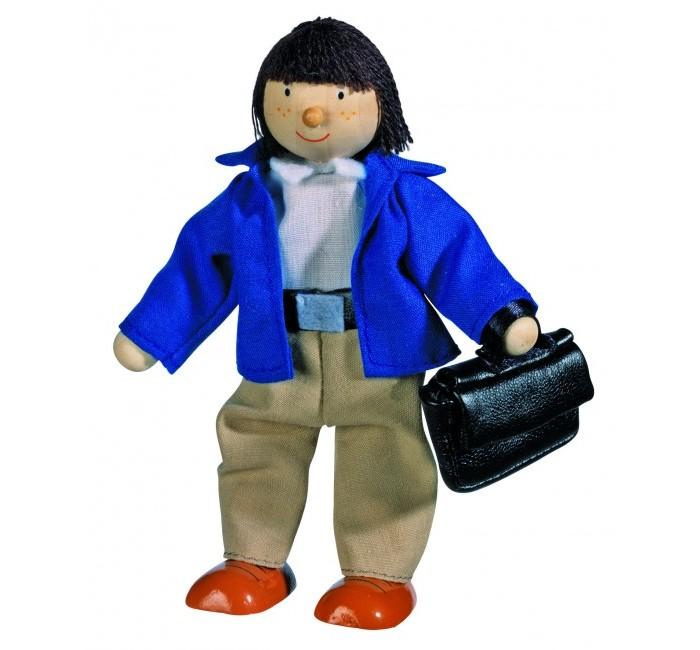 Куклы и одежда для кукол Goki Кукла деревянная Отец goki мягкая кукла мишка с комплектом одежды goki
