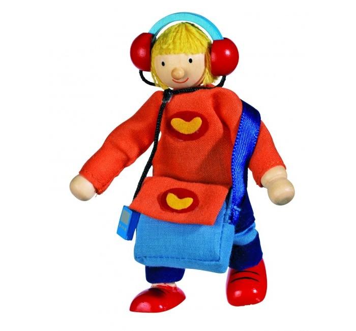 Куклы и одежда для кукол Goki Кукла деревянная Сын goki мягкая кукла мишка с комплектом одежды goki