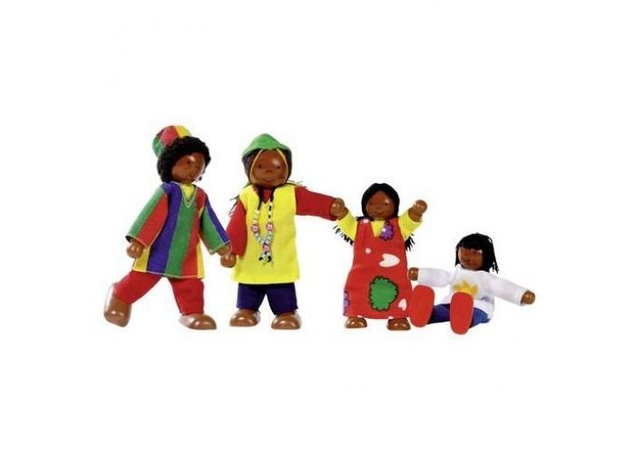 Игровые фигурки Goki Куклы Семья африканская 4 в 1 игровые фигурки goki фигурки животные фермы деревья