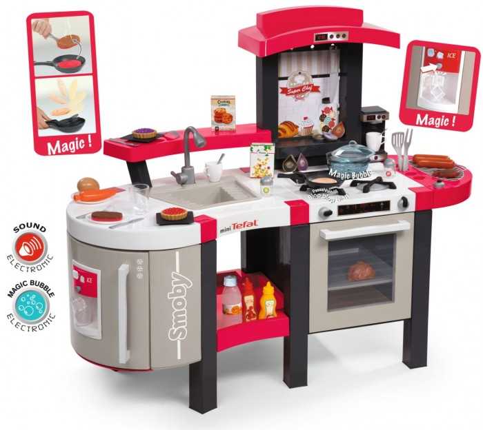 Ролевые игры Smoby Кухня Tefal Super Chef Deluxe smoby игрушка блендер tefal smoby
