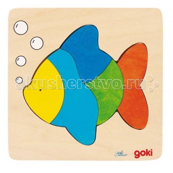 Пазлы Goki Пазл для малышей Рыбка русский стиль мозаика пазл напольная рыбка