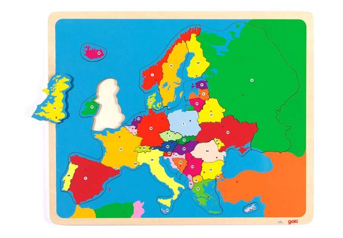 Пазлы Goki Пазл Европа большой (38 деталей)