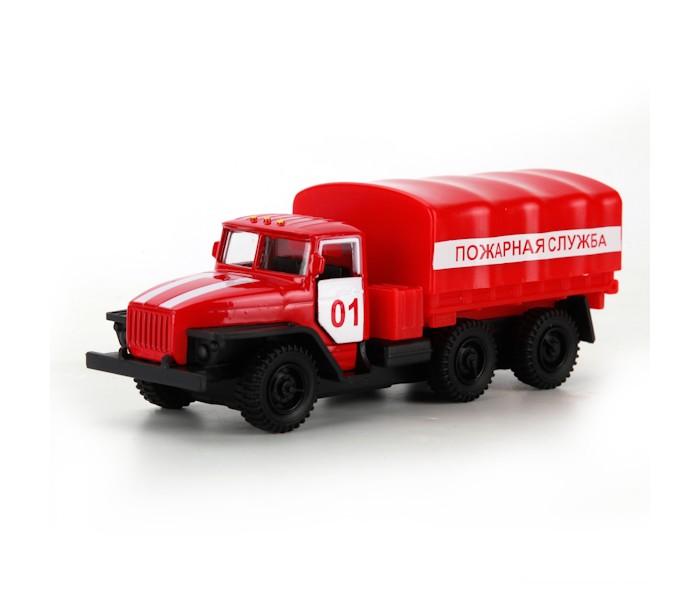 Машины Технопарк Машинка Урал Пожарная служба пламенный мотор машинка инерционная volvo пожарная охрана