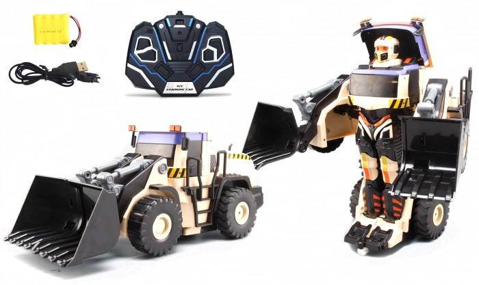1 Toy Робот-трансформер Экскаватор на р/уРоботы<br>1 Toy Робот-трансформер Экскаватор на р/у выглядит очень оригинально, поэтому обязательно привлечет к себе внимание мальчика. Из мощного робота игрушка легко трансформируется в экскаватор.  Управлять трансформером нужно при помощи специального пульта. Световые и звуковые эффекты сделают игру с роботом еще более интересной и реалистичной. Ребенок с удовольствием будет играть с транформером, придумывая захватывающие сюжеты на фантастическую тематику.  В комплекте: робот, пульт управления, аккумулятор, зарядное устройство  Высота робота: 38 см  Вес: 2.35 кг