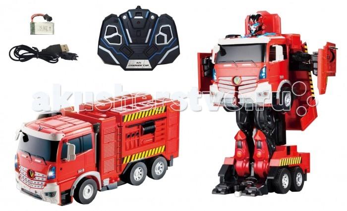 Фото - Роботы 1 Toy Робот-трансформер Пожарная машина на р/у hk industries 666 191a пожарная машина с водой р у