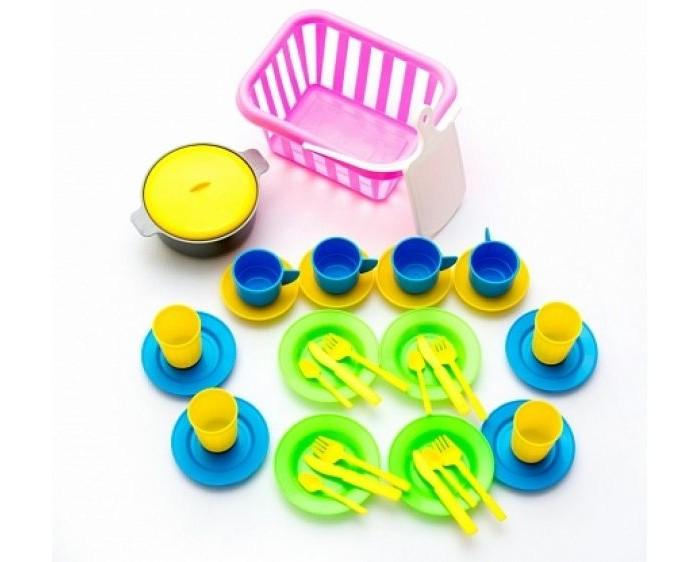 Игровые наборы Спектр Пикник в корзине искусственные ромашки в корзине