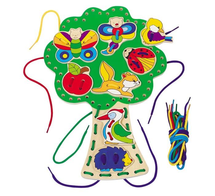 Развивающие игрушки Goki Шнуровка Дерево развивающие игрушки goki шнуровка медвежата