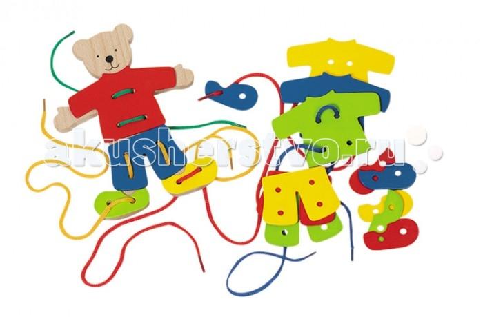 Развивающие игрушки Goki Шнуровка Медвежата развивающие игрушки goki шнуровка медвежата