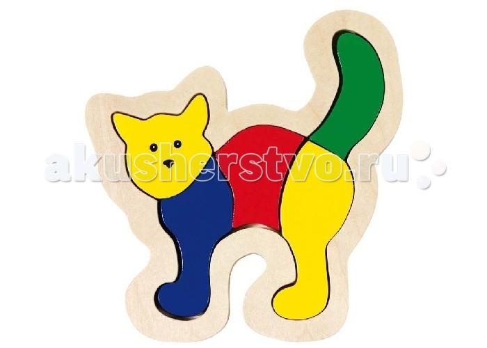 Развивающие игрушки Goki Пазл для малышей Кошка развивающие деревянные игрушки пазл для малышей теремок 4 в 1