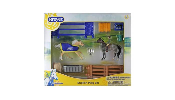 Breyer Игровой набор Английский стиль из двух лошадей наездника и аксессуаров