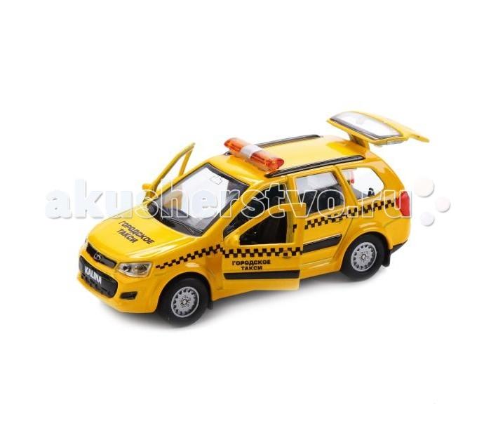 Машины Технопарк Машина Lada Kalina Cross Такси машинки autotime машина lada 2104 такси