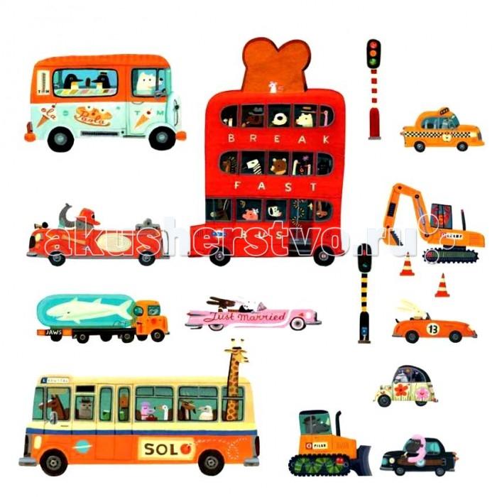 Детские наклейки Djeco Наклейки Транспорт не видемые днем фосфорные наклейки