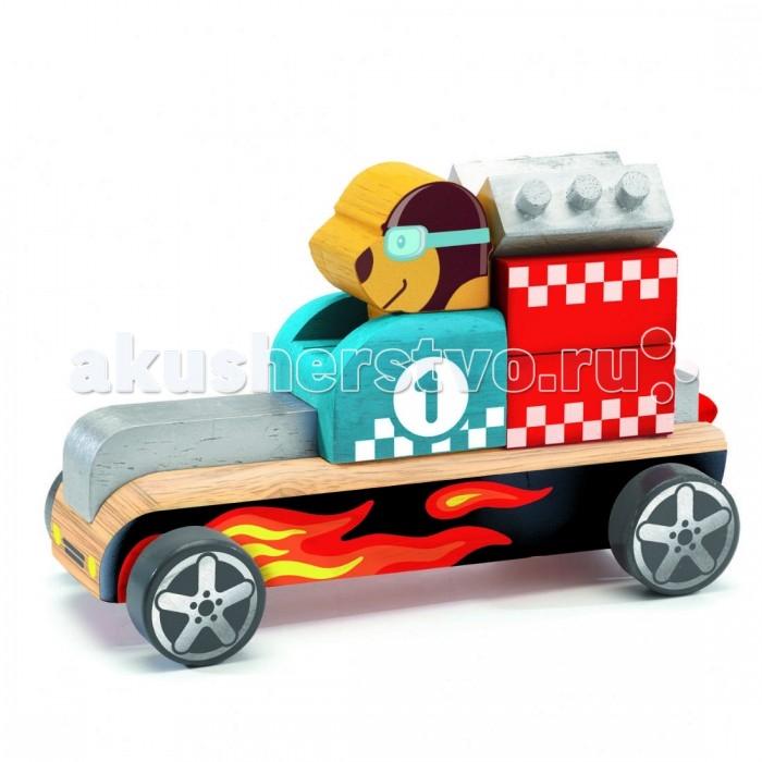 Деревянные игрушки Djeco Конструктор Гоночная машина 06410 мозаика из страз гоночная машина