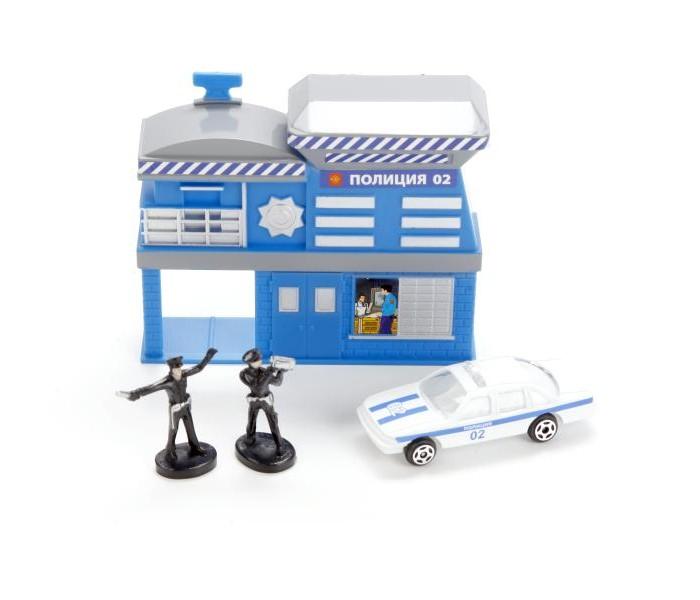 Игровые наборы Технопарк Игровой набор Полицейский участок игровые наборы tomy игровой набор приключения трактора джонни и лошади на ферме