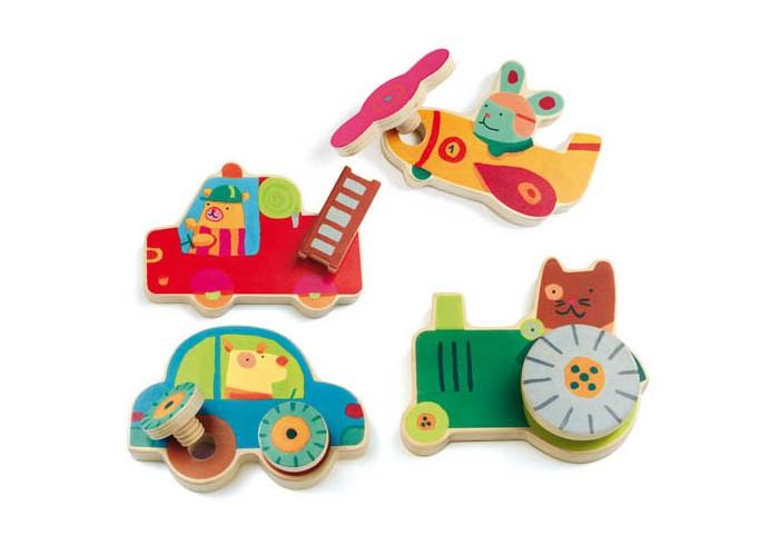 деревянные игрушки djeco развивающая мусса Деревянные игрушки Djeco Развивающая игра Прикрути колесо