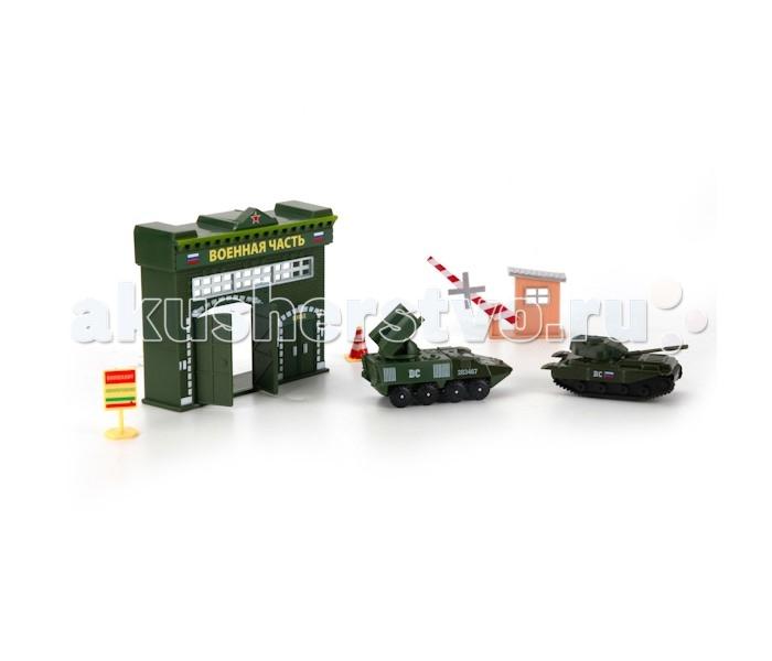 Игровые наборы Технопарк Набор Военная часть игровые наборы технопарк игровой набор