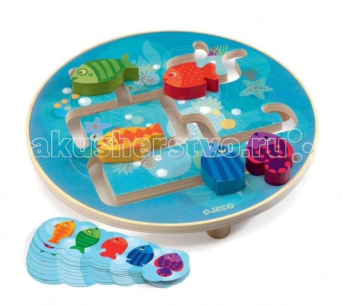 Деревянные игрушки Djeco Головоломка Рыбки деревянные игрушки djeco головоломка пазл лило