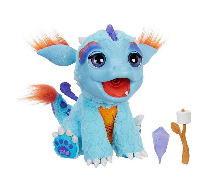 Интерактивная игрушка FurReal Friends Милый ДракошаМилый ДракошаРазвивающая игрушка PlayGo Милый Дракоша - это многофункциональный, высокотехнологичный питомец, который сможет стать настоящим другом вашего ребенка!    Особенности:  Издает более 50 различных звуков  Реагирует на прикосновения, смеется, если его пощекотать  Поворачивает голову, шевелит ушами, открывает и закрывает глаза  Огнедышащий: залейте воду в резервуар, расположенный в голове дракона - он будет дышать паром, а эффект пламени создается за счет красной светодиодной подсветки  Может подкоптить зефир на палочке, включенный в набор: поднесите лакомство ко рту дракоши - он подышит огнем и приготовит сладость (угощение выполнено из специального материала, меняющего цвет под действием пара) Игрушка выполнена из высококачественных материалов, прочных и гипоаллергенных - а значит, полностью безопасных для здоровья ребенка. Используемые красители не содержат токсичных компонентов.   Работает от 4 батареек типа C, LR14, 1.5V (не входят в комплект).<br>