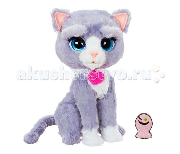 Интерактивная игрушка FurReal Friends Котёнок БутсиКотёнок БутсиРазвивающая игрушка PlayGo Котёнок Бутси - это многофункциональный, высокотехнологичный питомец, который сможет стать настоящим другом вашего ребенка!   Он ведет себя совсем как настоящий, живой котик. Бутси очень любит внимание, с ним обязательно нужно играть, иначе он заскучает! А также он очень любит ласку и обниматься.   У Бутси свой характер, который он проявляет в зависимости от действий хозяина. Погладьте кошку по голове - и она ответит дружелюбным мурлыканьем! А если дважды нажать на ее язык, она разозлится и нахмурит брови. Вернуть кошке хорошее расположение духа поможет обед - предложите ей лакомство в виде рыбки, она обязательно обрадуется! А если не трогать котенка, в течение приблизительно минуты он заснет; разбудить его можно, взяв на руки или предложив скушать рыбку.   Особенности:  Все функции активируются при положении выключателя в режиме ВКЛ;  Реагирует на движение руки перед ним;  3 сенсорных датчика: на голове, мордочке и лапе. Примечание: датчики движения не работают, когда игрушка находится в режиме сна.  3 положения бровей, в зависимости от настроения;  Причмокивает во время кормления;  Мяукает, мурлыкает, шипит;  Двигает головой;  В комплект входит рыбка со встроенным датчиком;  Предусмотрен режим TRY ME. Работает от 4 батареек АА / LR6 1.5V (входят в комплект).<br>