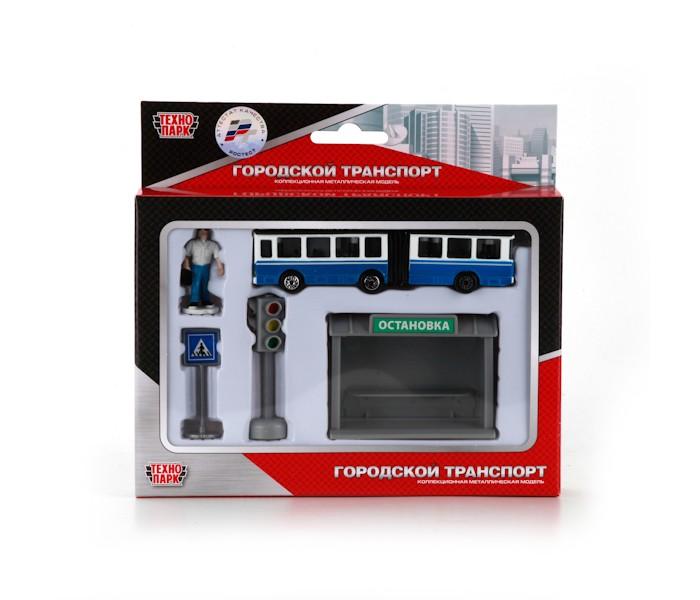 Купить Игровые наборы, Технопарк Набор Городской транспорт Троллейбус с остановкой