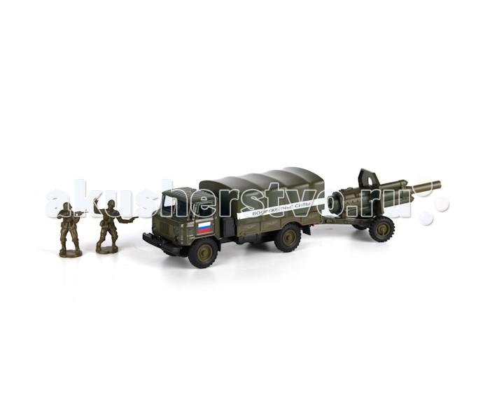 Игровые наборы Технопарк Машина ГАЗ 66 Вооруженные силы технопарк газ 66 с пушкой