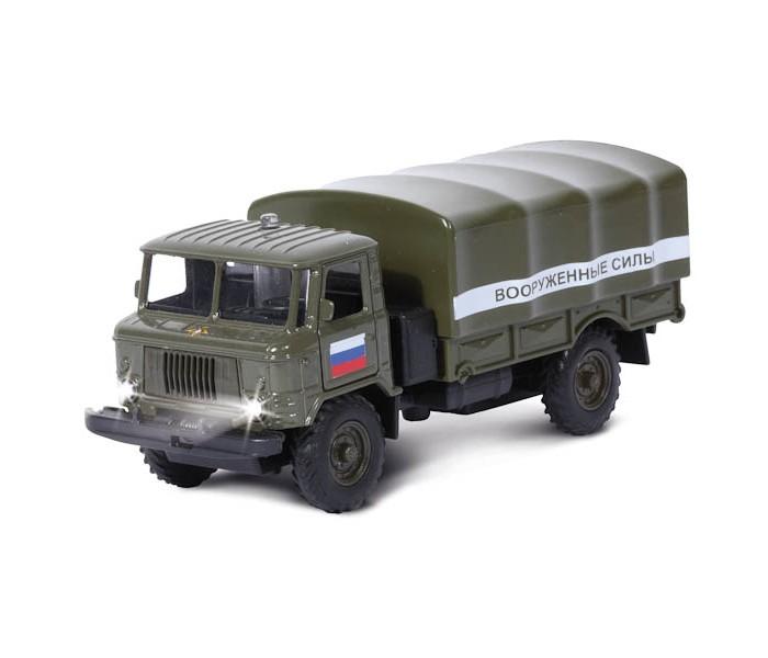 Машины Технопарк Машина ГАЗ 66 Вооруженные силы со светом и звуком барабанная циклевочная машина со 206 бу